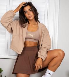 Светло-коричневая укороченная куртка PUMA x Stef Fit - эксклюзивно для ASOS-Светло-коричневый