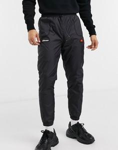 Черные стеганые джоггеры с шевронным узором ellesse Gros-Черный цвет