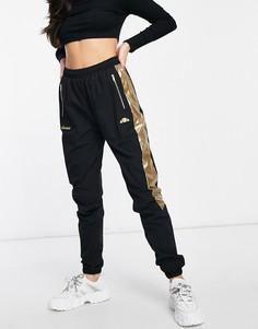 Черные спортивные брюки с золотистой отделкой ellesse - эксклюзивно для ASOS-Черный цвет