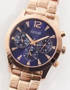 Золотистые часы с браслетом Guess-Золотистый
