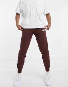 Темно-коричневые спортивные штаны с логотипом PUMA Essentials-Коричневый цвет