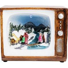 Сувенир Рождественский телевизор 15,5 см Без бренда
