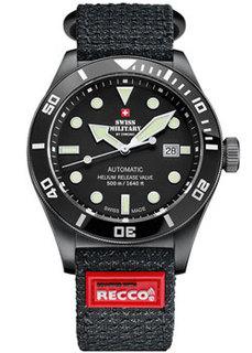 Швейцарские наручные мужские часы Swiss military SMA34075.05.R. Коллекция Diver