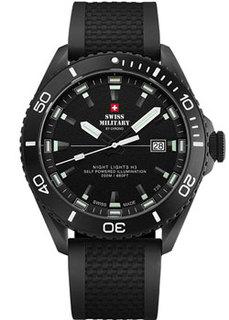 Швейцарские наручные мужские часы Swiss military SM34080.06. Коллекция Night Lights