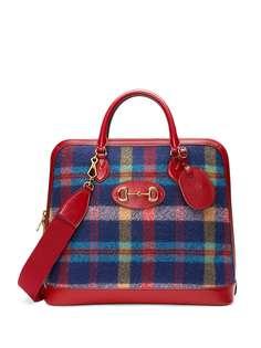 Gucci дорожная сумка 1955 Horsebit в клетку