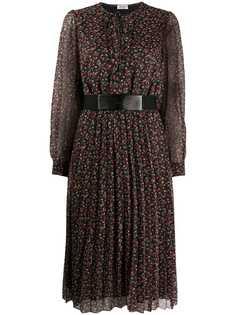 LIU JO плиссированное платье с цветочным принтом