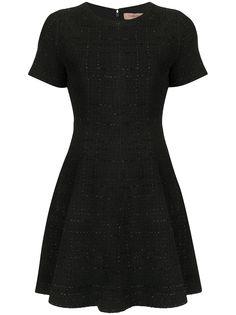 TWINSET расклешенное твидовое платье
