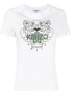 Kenzo футболка с графичным принтом и логотипом