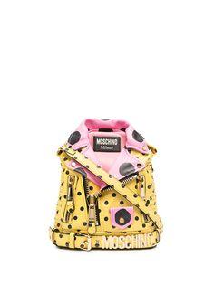 Moschino рюкзак в виде байкерской куртки