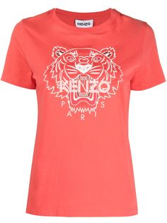 Kenzo футболка с логотипом Tiger