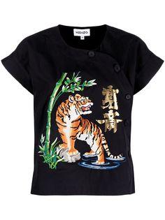 Kenzo футболка с вышивкой