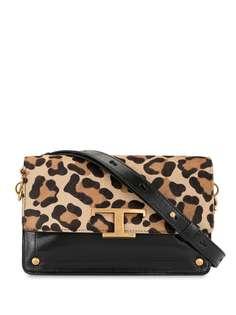 Tods сумка через плечо с леопардовым принтом и логотипом Tod'S