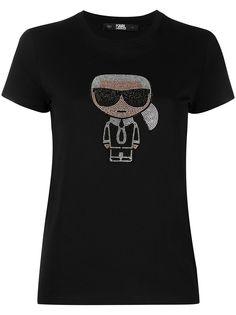 Karl Lagerfeld футболка с кристаллами