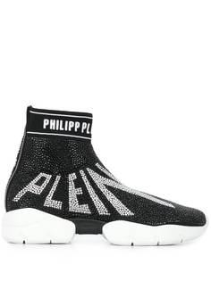 Philipp Plein высокие кроссовки с кристаллами
