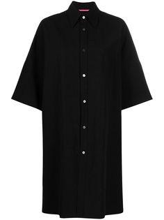 Ys платье-рубашка оверсайз с короткими рукавами Y's