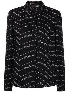 Love Moschino рубашка с логотипом