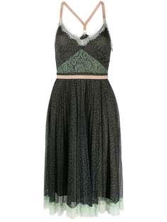 Pinko платье мини с кружевом