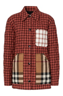 Стеганая куртка-рубашка в стиле пэчворк Burberry