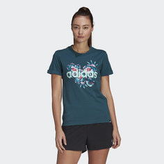 Футболка FARM Rio Floral Graphic adidas Sport Inspired