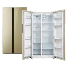 Холодильник БИРЮСА SBS 587 GG, двухкамерный, бежевый