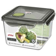 Контейнер пищевой для СВЧ и заморозки пластмассовый Бытпласт Brilliant С11799, 1.7 л