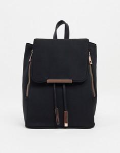 Рюкзак с фурнитурой цвета розового цвета ASOS DESIGN-Черный цвет