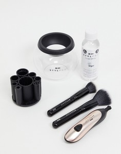 Подарочный набор для очищения и сушки кистей для макияжа STYLPRO Blush-Розовый цвет