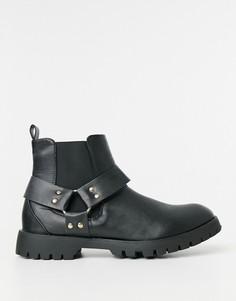 Ботинки челси с перекрестными ремешками Truffle Collection-Черный цвет