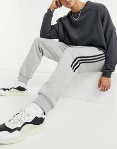 Серые джоггеры с тремя полосками adidas Training-Серый