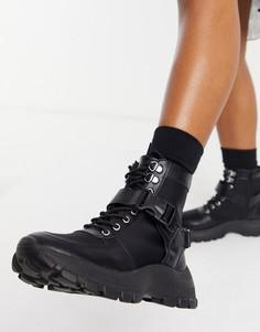 Черные походные ботинки в спортивном стиле ASOS DESIGN Anderson-Черный цвет