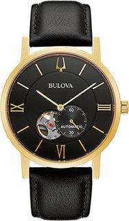 Японские наручные мужские часы Bulova 97A154. Коллекция American Clipper