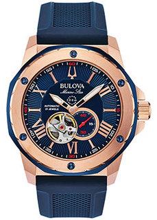 Японские наручные мужские часы Bulova 98A227. Коллекция Marine Star