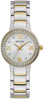 Японские наручные женские часы Bulova 98L271. Коллекция Crystal Ladies