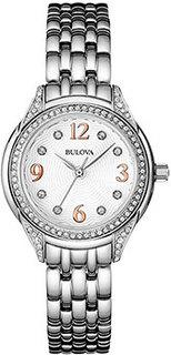 Японские наручные женские часы Bulova 96L212. Коллекция Crystal Ladies