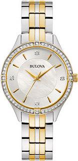 Японские наручные женские часы Bulova 98L273. Коллекция Crystal Ladies