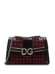 Dolce & Gabbana твидовая сумка через плечо Amore