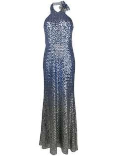 Marchesa Notte платье с пайетками