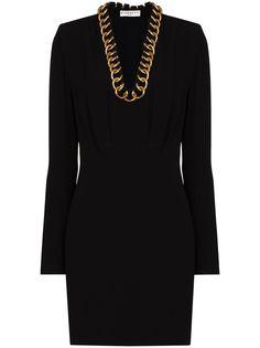 Givenchy платье мини с длинными рукавами и цепочкой