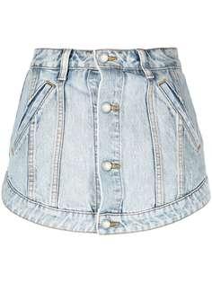 Alexander Wang джинсовые шорты с эффектом потертости