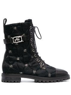 Alberta Ferretti стеганые ботинки в стиле милитари