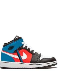 Nike Kids кроссовки Air Jordan 1 Mid Game Time GS