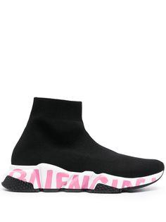 Balenciaga кроссовки-носки Speed с логотипом