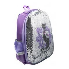 Школьные ранцы, рюкзаки, сумки Ранец Silwerhof Кошечка фиолетовый С пайетками