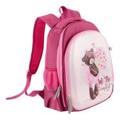 Школьные ранцы, рюкзаки, сумки Ранец Silwerhof Мишка бледно-розовый/перламутровый