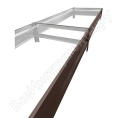 Грядка теплица-царица высота борта 20см, 1*4м, полимер 3005 00-00027110-1