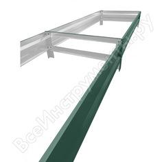 Грядка теплица-царица высота борта 20см, 1*4м, полимер 6005 00-00027110-2