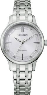 Японские женские часы в коллекции Eco-Drive Женские часы Citizen EM0890-85A