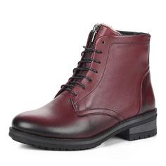 Ботинки Бордовые ботинки из кожи на шерсти El Tempo