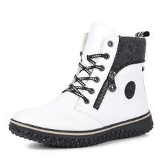 Ботинки Белые ботинки из экокожи на шнуровке Rieker