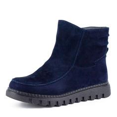 Ботинки Синие ботинки из велюра без шнуровки Spur